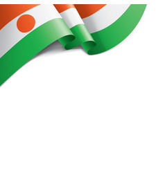 niger flag on a white vector image