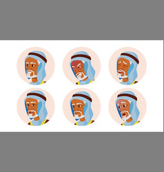 old arab avatar icon man traditional vector image
