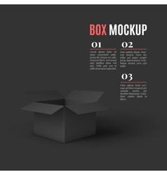 Open box mockup template vector