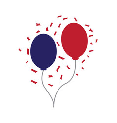 pair of party balloons vector image