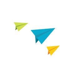 paper plane design vector image