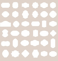 Paper texture collection blank frames and label vector