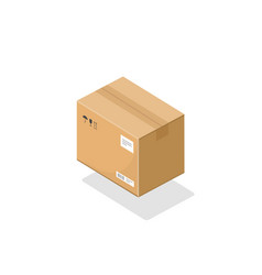 parcel box isometric icon 3d cartoon vector image