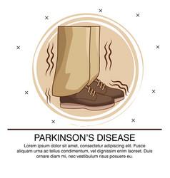 Parkinsons disease infographic vector