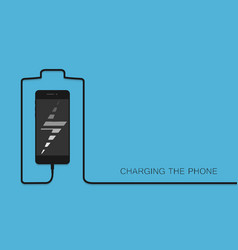 Phone charging with energy bank smarthone with li vector