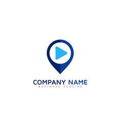pin video logo icon design vector image