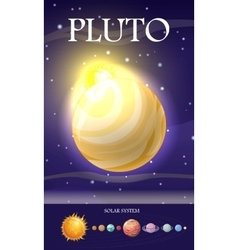 Planet Pluto in Solar System vector image
