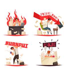professional burnout set vector image