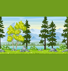 seamless cartoon nature background vector image