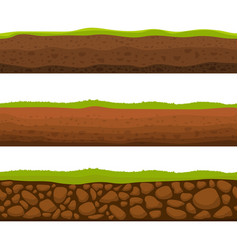 Seamless ground section vector