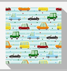 Seamless pattern collection with car 2 vector image
