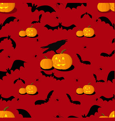seamless pattern of halloween background vector image