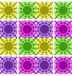 Set of abstract seamless patterns of yellow vector