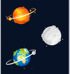 Set space objects vector