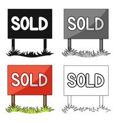 signboard-soldrealtor single icon in cartoon vector image