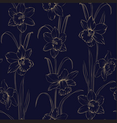 spring flowers fabric seamless pattern vector image