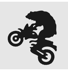 Symbol Biker Bear vector image
