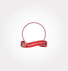 Template logo 80th anniversary with a circle vector