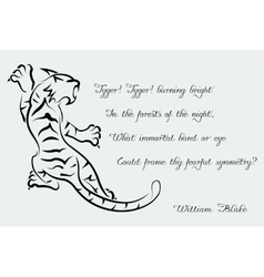 tiger Poems of William Blake vector image