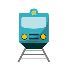 train on rails frontview vector image