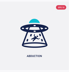 two color abduction icon from astronomy concept vector image