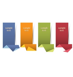 Vertical origami banners vector image