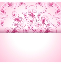 Vintage background with swirls ornaments vector