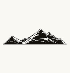 vintage mountain template vector image