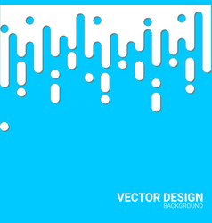 White fluid waves with shadow blue background vector