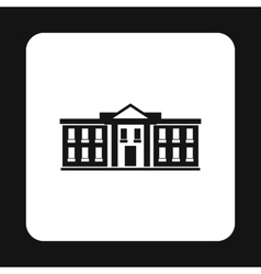 White house USA icon simple style vector image