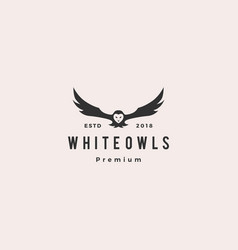 white owl logo icon vector image