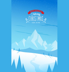 winter mountain landscape scenery and merry vector image