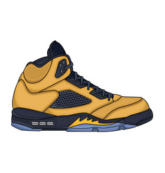 yellow sneakers design vector image