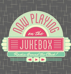 1950s jukebox style logo design vector