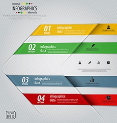 infographics design 3 vector image vector image