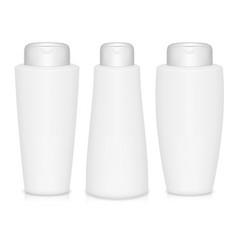 Shampoo bottles vector