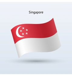 Singapore flag waving form vector image