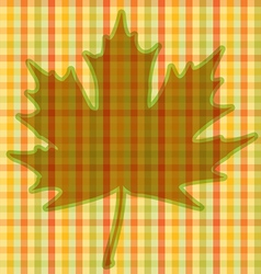 Squared Autumnal Card vector image