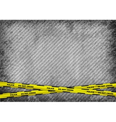 texture grain grey with police tape vector image
