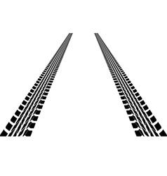 tire tracks leading far away vector image vector image