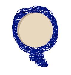Blue light scribble dialog box design vector