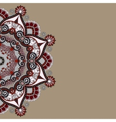 ornamental template with circle floral background vector image