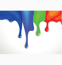 drips of paint vector image vector image