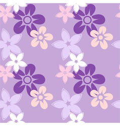 floral silhouettes pattern lilac vector image vector image