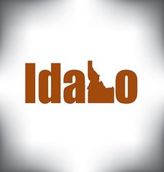 Idaho state graphic vector image vector image