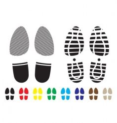 shoe pattern vector image