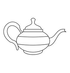 teapot icon outline style vector image vector image
