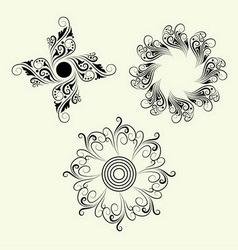 3 Element ornaments vector image