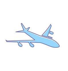 airplane flight plane transport travel icon vector image