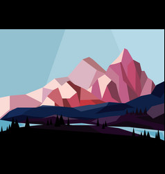 beautiful mountains vector image vector image